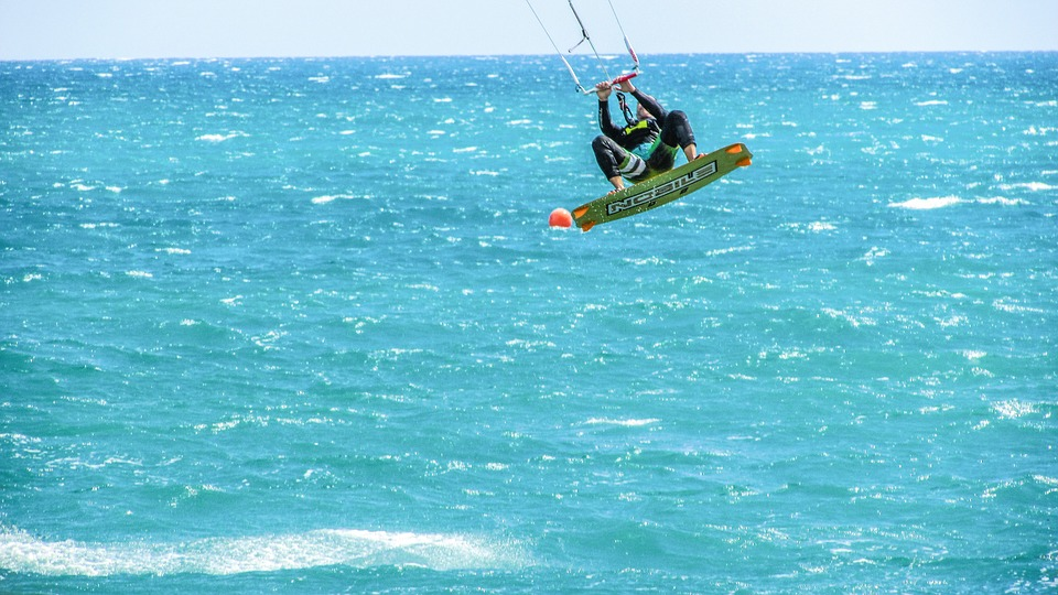 Kite Active Sport Surfer Wind Extreme Sea Surf